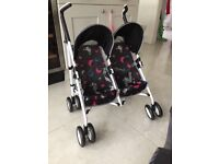 DOLLS TWIN PUSHCHAIR. SILVERCROSS, BRAND NEW IN BOX. DUBLICATE GIFT. £25. COLLECTION ONLY