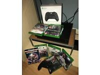 XBOX ONE X 6 GAMES PACKAGE 2 Controllers