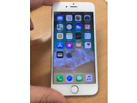 Iphone 6 16 gb white and silver unlocked with cable and charger