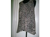 Joblot of womens animal print swing vest summer tops sizes 8 - 22 total of 2730 pieces £2 each