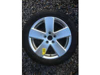 "Brand new VW Volswagen 17"" Monte Carlo Alloy Wheel & Continental 235 45 17 Tyre (Unused spare)"