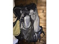 2 Travel Backpacks. Quechua Forclaz 60 liter and 70 liter