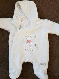 Winnie the pooh snow suit age 0-3months