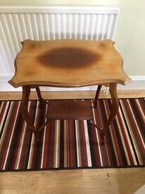2 x antique occasional tables