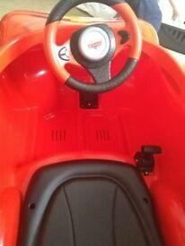 Lightening McQueen ride in car