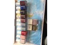 12 full size essie & NAILSINC nail polish