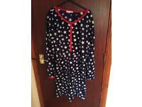 Blue fleecy night gown size 10/12