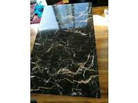 Marble coffee table corner sofa tv unit