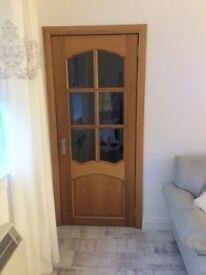 Solid Oak Internal Doors x2