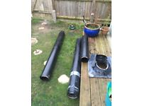 5 metre flue kit with liner and fitting kit. High quality £600 new