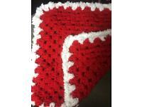 New Crocheted small pram/car seat blanket