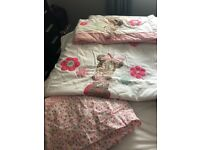Minnie Mouse cot bedding and curtains