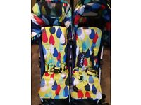Double Twin Pushchair Cosatto Duo To and Fro Pitter Patter Excellent condition used three times