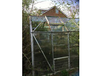Greenhouse 8'x 6' aluminium frame FREE to someone who is willing to dismantle and take away