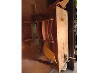 Antique stripped pine farmhouse kitchen table
