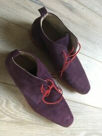 JEFF BANKS - Purple Suede shoes -Size 9.