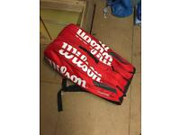 Top quality wilson thermo proffestional tennis racket bag £60