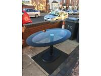 Great solid thick glass dining table