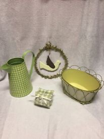 Green and Cream Home Accessories