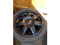 Alloy wheels x 4 with good tyres