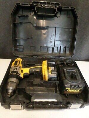 Dewalt Dcd950 12 Hammer Drill W Dw9116 Charger Battery Case Lot Dt1