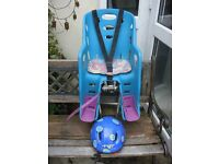 Child Bike Seat Carrier with Helmet