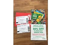 Legoland Tickets 31st October x 2