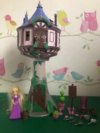 Rapunzel figure and tower