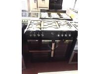 **NEW**Range cooker 7burner Dual Fuel Cooker-black Flavel PRP £649.98 Graded stock **NEW-NEW**