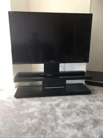 Sharp 60'' Aquos TV and high quality black stand