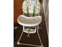Mothercare alphabet highchair
