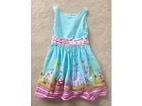 Girls NEXT Blue Carnival Dress Age 8 Years