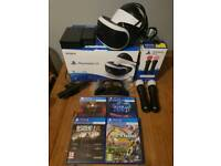 PlayStation VR Bundle Controllers Games Camera Charger **LIKE NEW**