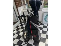 1/2 set of Golf Clubs, Bag and Trolley