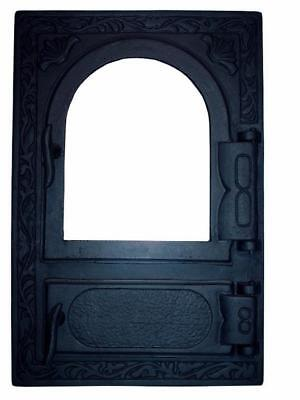 Cast Iron Fire Door Clay Bread Oven Pizza Stove Quality Black (FL) 49 x 32,5