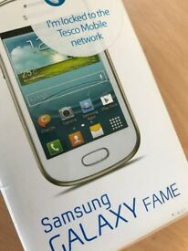 """New Samsung Galaxy Fame 3.5"""" touch 4gb smart phone, Tesco network, 5MP, QUAD BAND, GT-S6810P"""