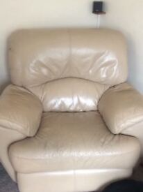 Leather Recliner Single Chair x2