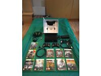 Microsoft Xbox 360 Slim with Kinect 250GB, 16 games, turtle beach