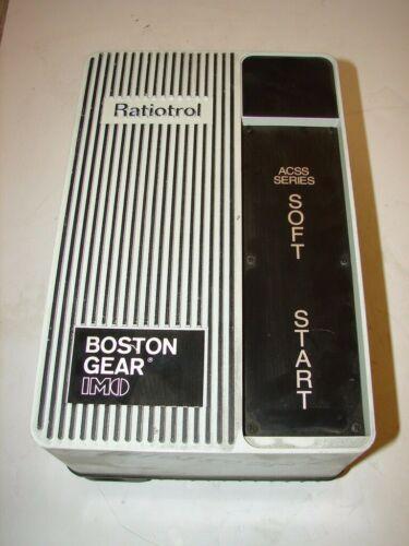 BOSTON GEAR ACSS 415 GEAR RATIO TROL SOFT STARTER ***XLNT***