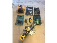 Selection of 240v power tools