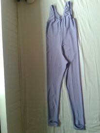 TAPPERS & POINTERS Sleeveless catsuit in nylon lycra - LILAC size 3a