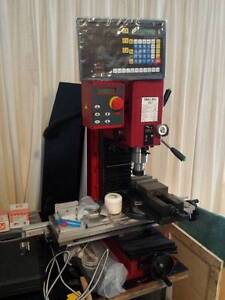 Sieg SX2.7 milling machine with various tooling, tools, bench,etc Southport Gold Coast City Preview