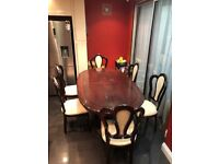 6 - 8 Seater Extending Dining Table And 6 Chairs Included