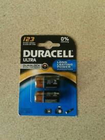 Duracell dl123a batteries