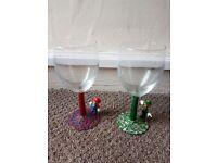 Mario & louige character wineglasses