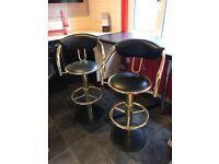 bar stools gold and black