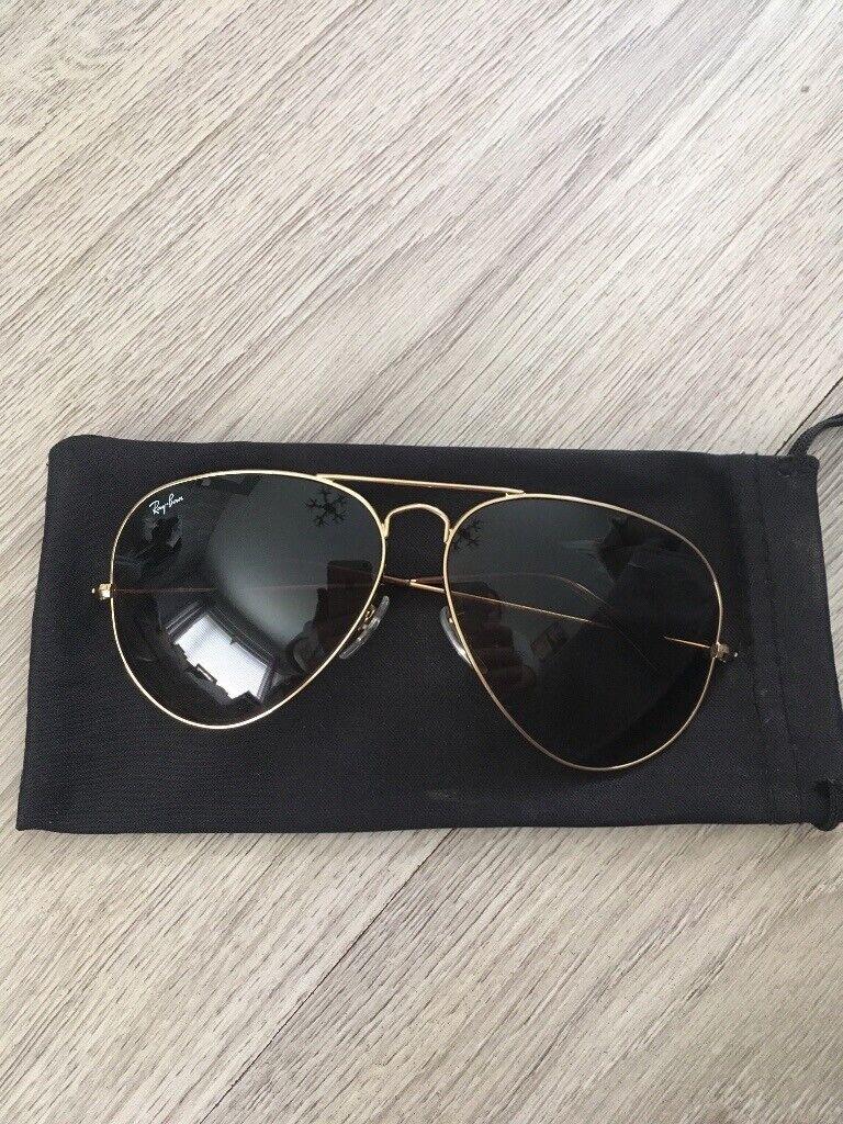 a885f7f6ec Genuine Ray Bans aviator sunglasses