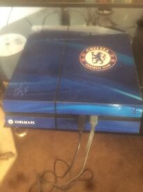 Chelsea wrapped PS4 with Fifa 17 GTA and Falloiut