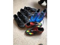 Mixed boys trainers and football