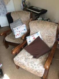 2 chairs, collection only. Bath city centre